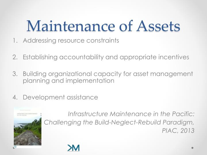 Maintenance of Assets