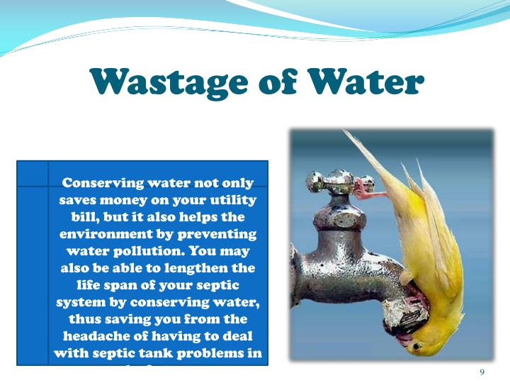 Wastage of Water