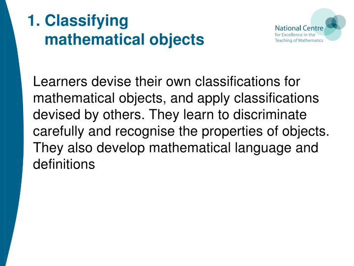 1. Classifying