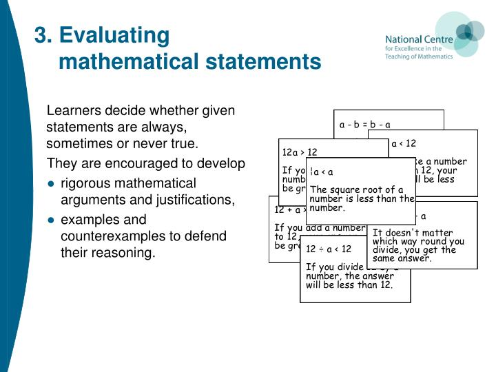 3. Evaluating