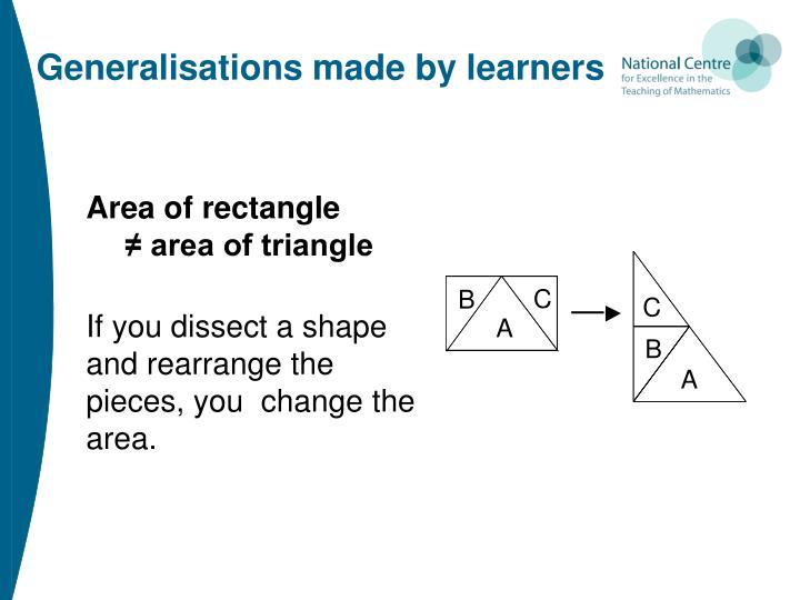 Generalisations