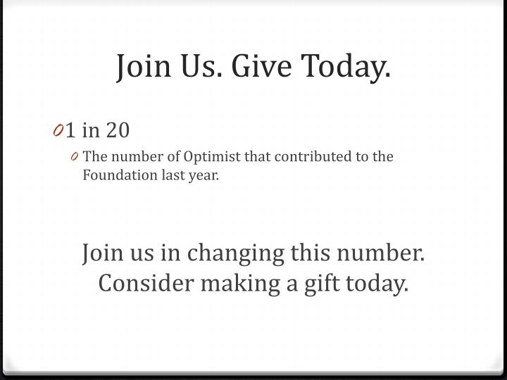Join Us. Give Today.
