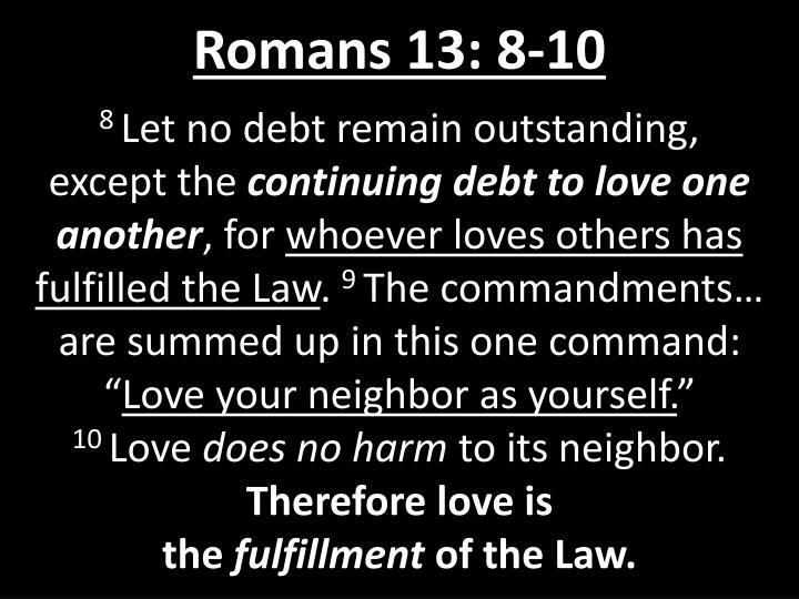 Romans 13: 8-10