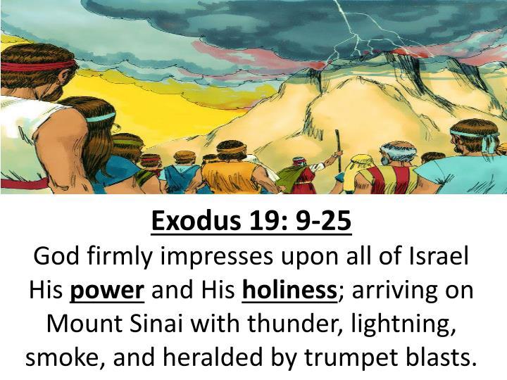Exodus 19: 9-25