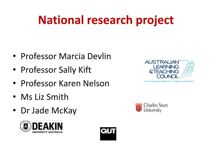 National research project