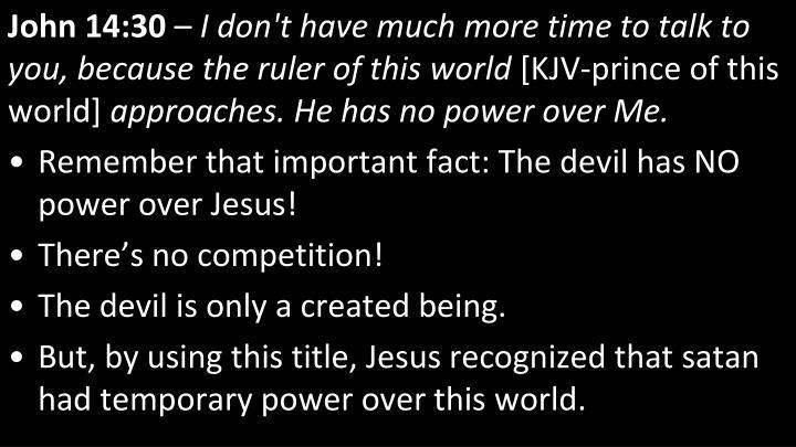 John 14:30