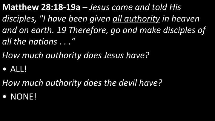 Matthew 28:18-19a