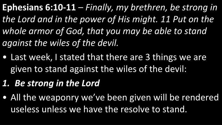 Ephesians 6:10-11