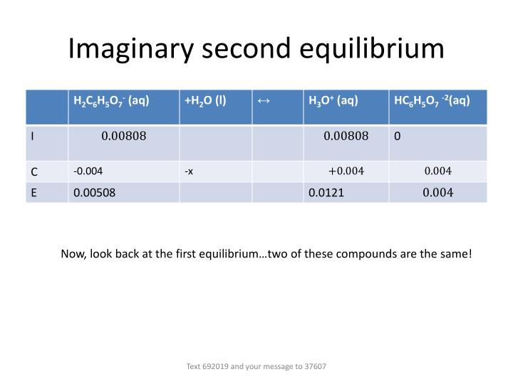 Imaginary second equilibrium