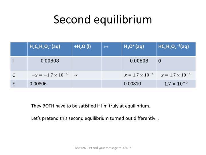Second equilibrium