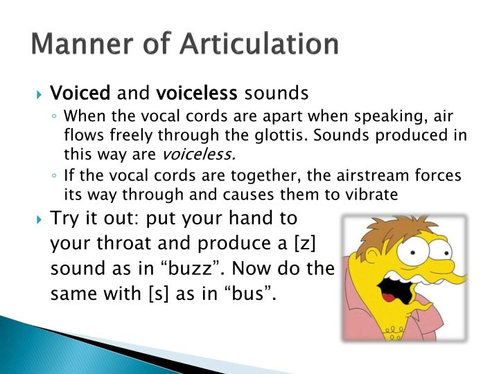 Manner of Articulation
