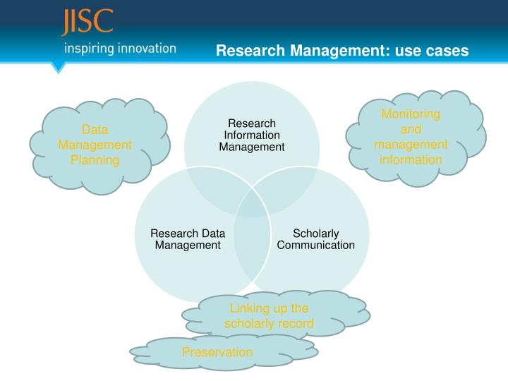 Research Management: use cases