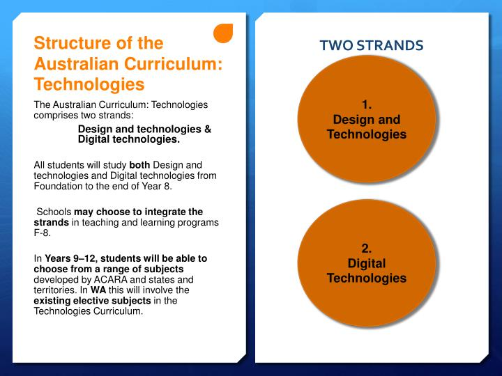 structure of the australian curriculum essay Education - structure and development of the australian curriculum.