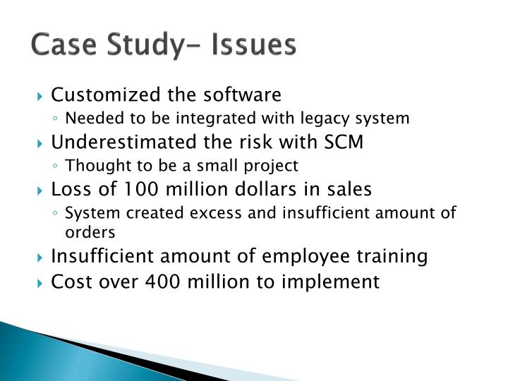 Case Study- Issues