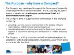 the purpose why have a compact