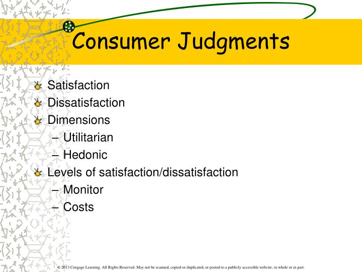 Consumer Judgments