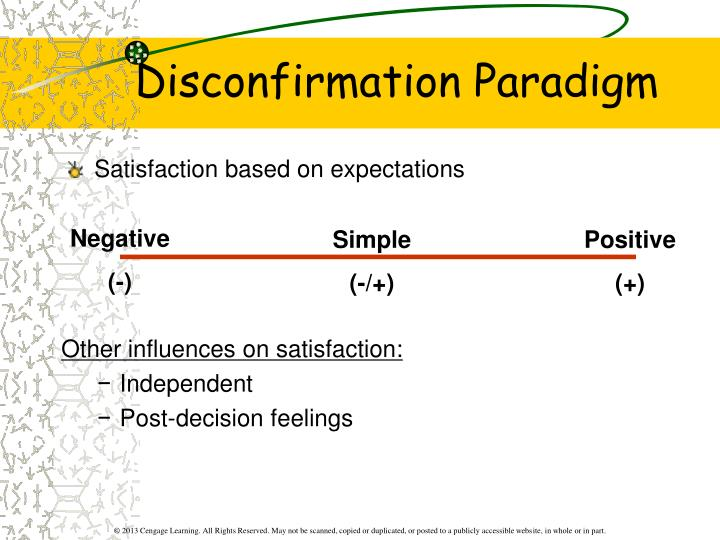 Other influences on satisfaction:
