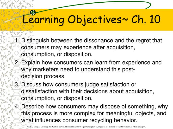 Learning objectives ch 10