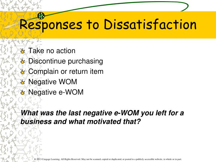 Responses to Dissatisfaction