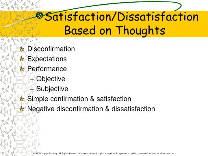 Satisfaction/Dissatisfaction