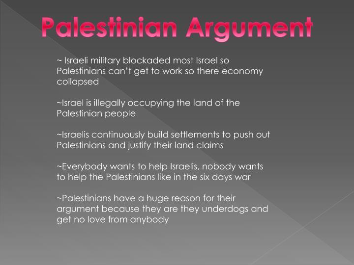 Palestinian Argument