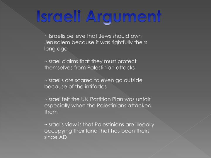 Israeli Argument