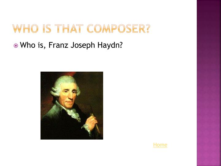 Who is that Composer?