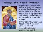 messages of the gospel of matthew