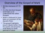 overview of the gospel of mark