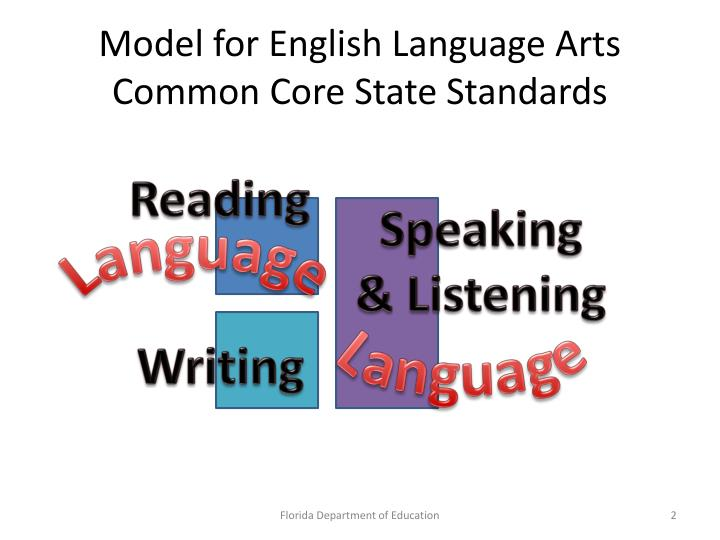 Model for English Language Arts