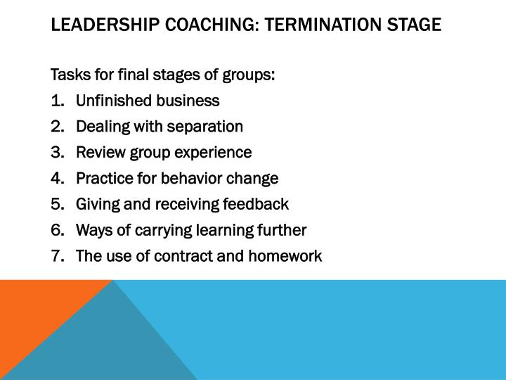 Leadership Coaching: Termination Stage