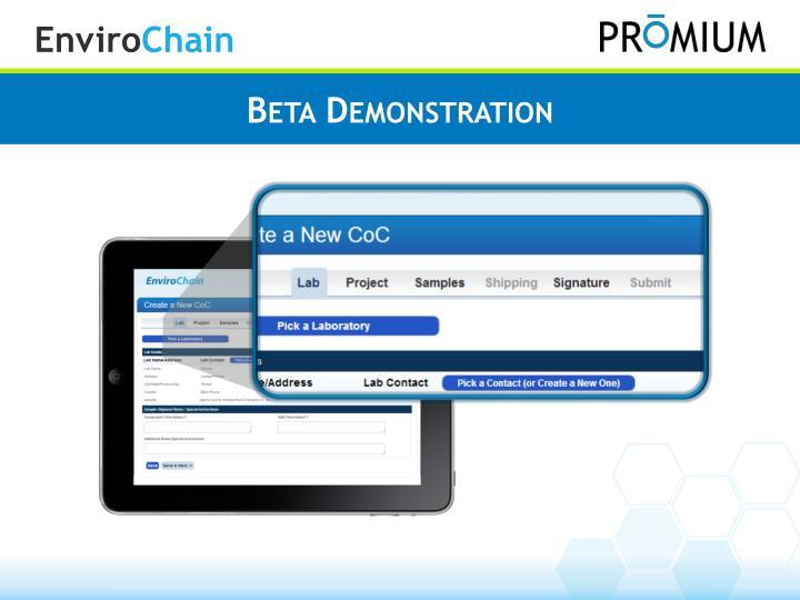 Beta Demonstration