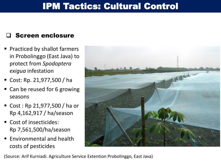 IPM Tactics: Cultural Control