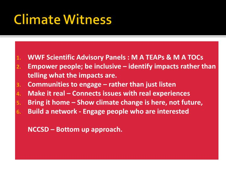 Climate Witness