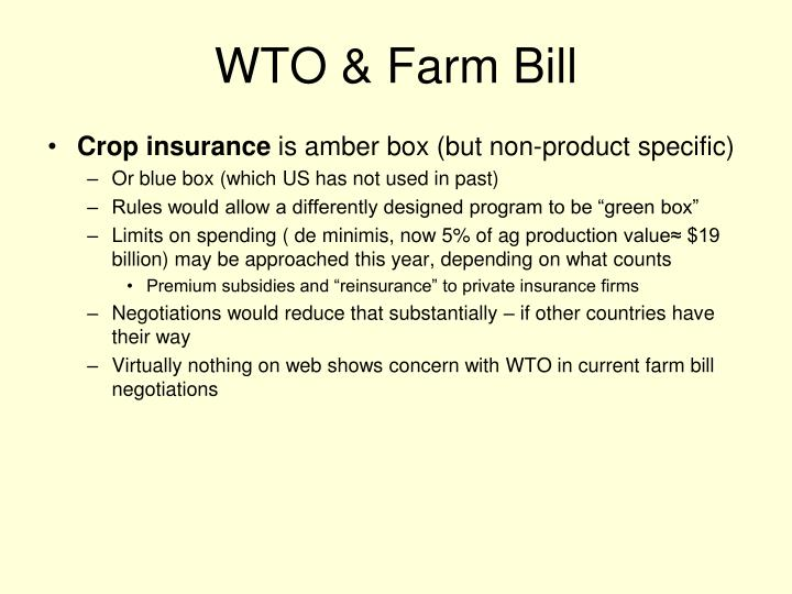 WTO & Farm Bill