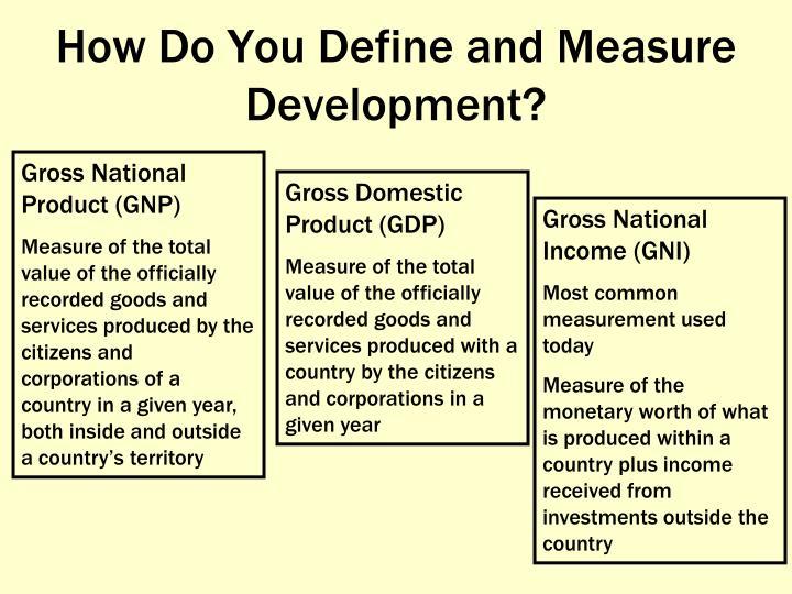 How Do You Define and Measure Development?