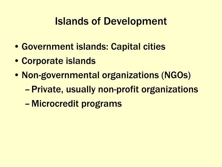 Islands of Development