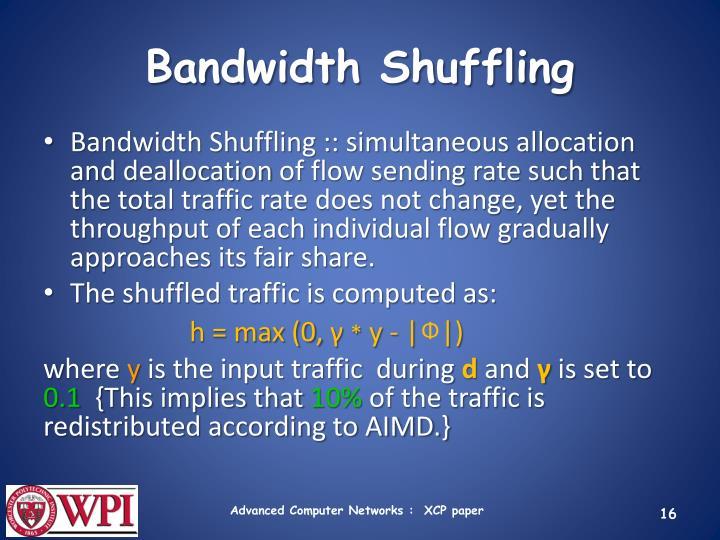 Bandwidth Shuffling