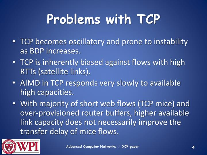 Problems with TCP