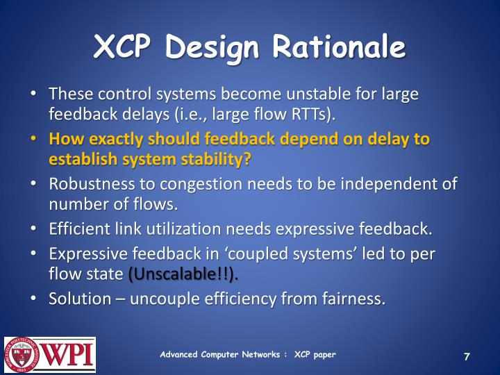 XCP Design Rationale