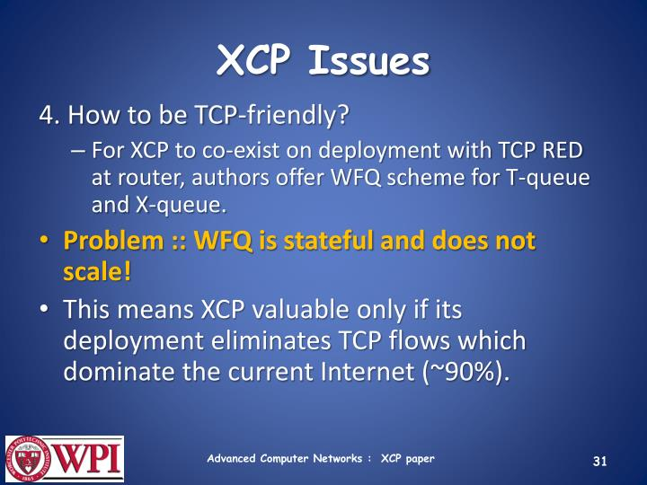 XCP Issues