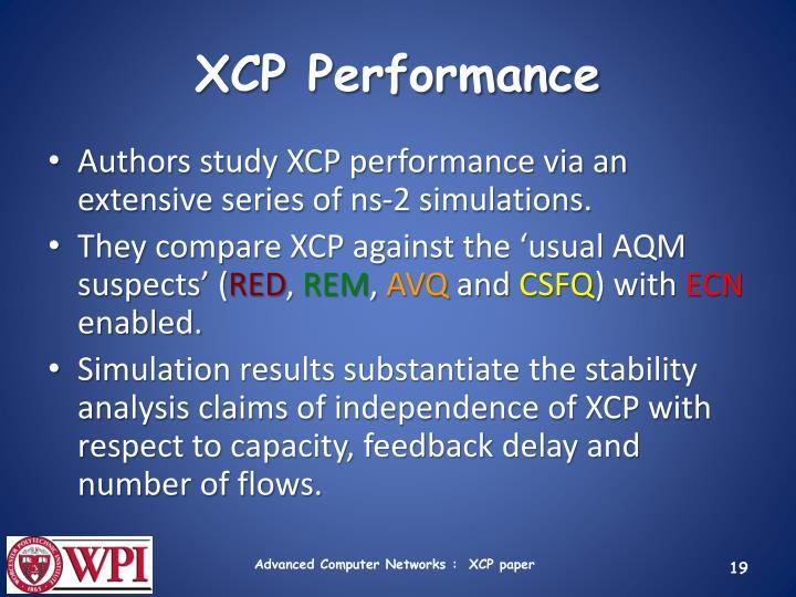 XCP Performance