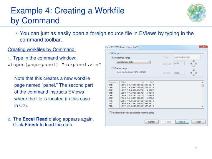 Example 4: Creating a