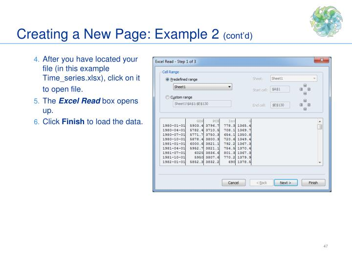 Creating a New Page: Example 2