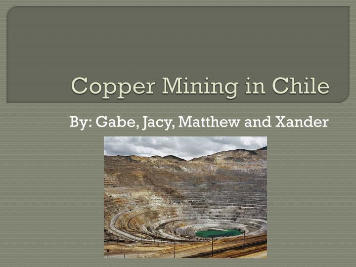 Copper mining in chile