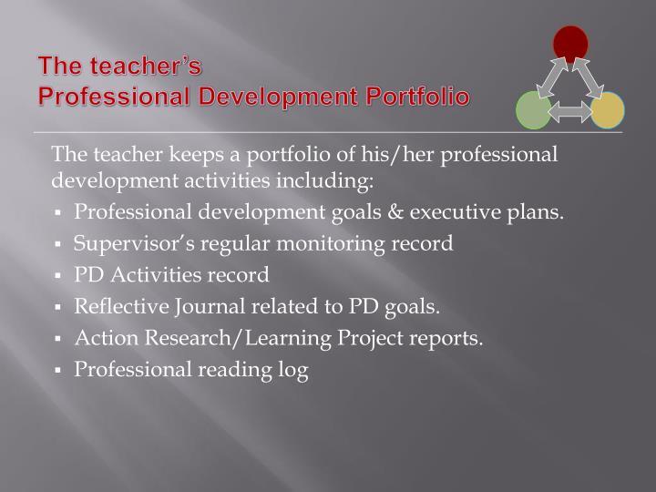 The teacher's