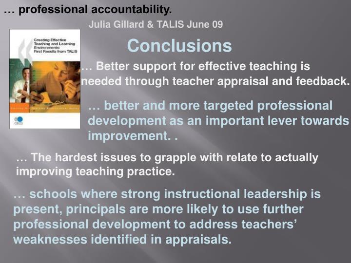 … professional accountability.