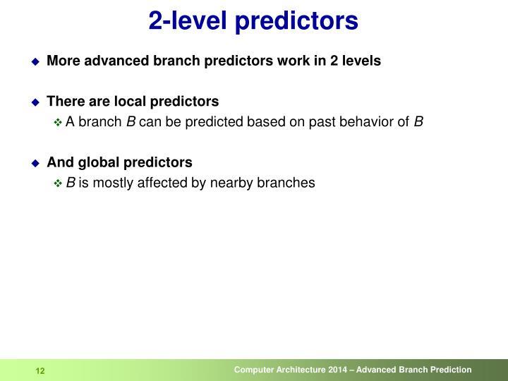 2-level predictors