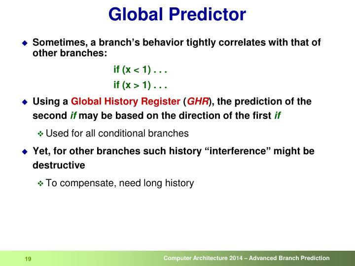 Global Predictor