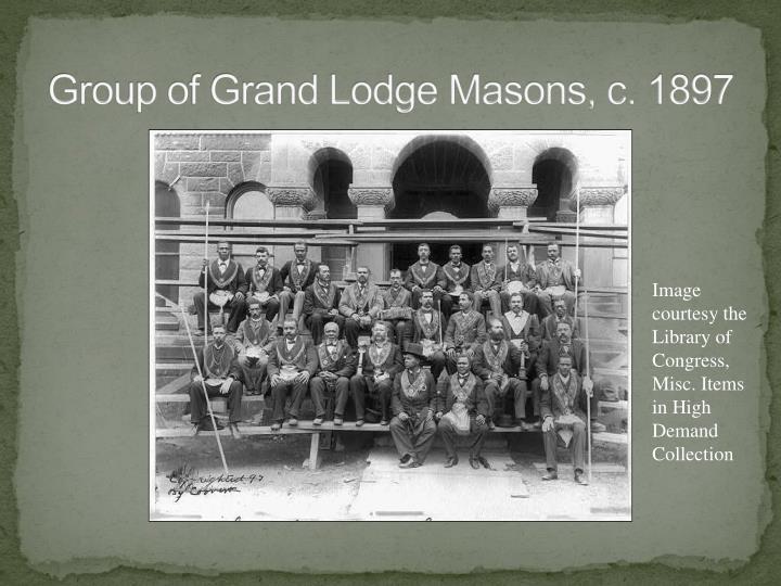 Group of Grand Lodge Masons, c. 1897